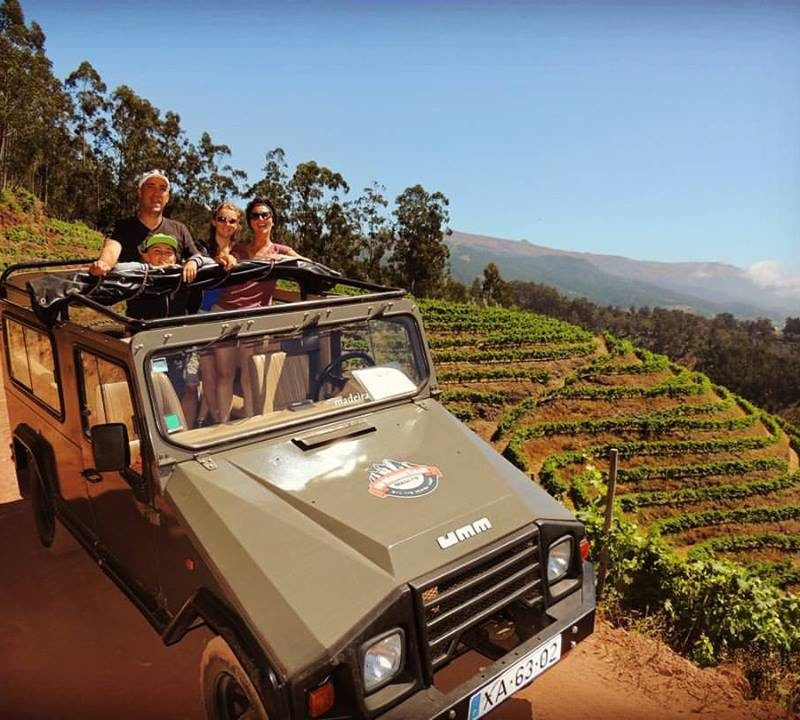 Descending the Vineyards in our 4x4 UMM