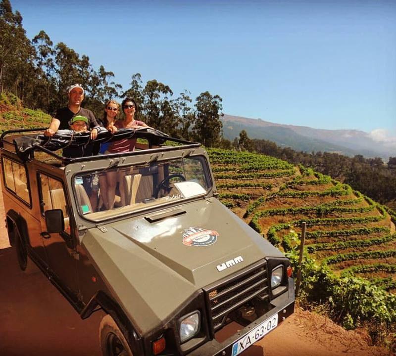 Descending the Vineyards in our 4x4 UMM