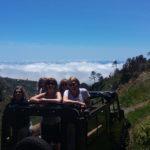 above the clowds in Jardim da Serra in our open top Jeep